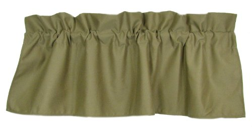 American Mills 36897.318 Isle of Palms Valance, 18 by 54-Inch, Moss, Set of 2