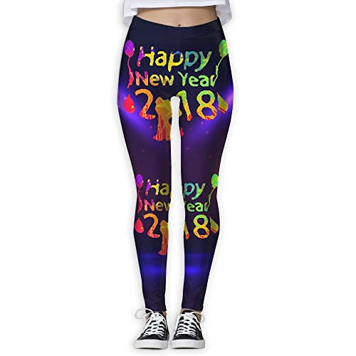 (Happy New Year 2018 é€åº• Women's Stretchable Sports Running Yoga Workout Leggings Pants M)