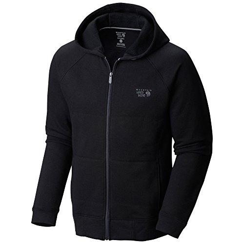 Mountain Hardwear MHW Logo Full Zip Hoody - Men's Black F14 Medium