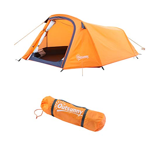 Outsunny Unisex's Tent, Orange, One Size