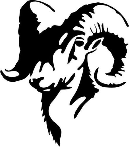 Ram Animal Wildlife Vinyl Graphic Car Truck Windows Decor Decal Sticker - Die cut vinyl decal for windows, cars, trucks, tool boxes, laptops, MacBook - virtually any hard, smooth surface