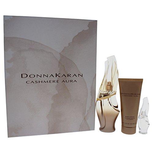 Donna Karan Cashmere Aura 3 Piece Gift Set - Donna Karan Mini Edp