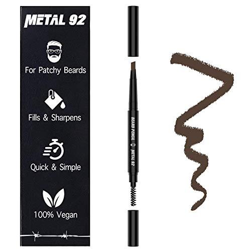 🥇 METAL 92 | Lápiz de Relleno de Barba | Define y Rellena Barbas Finas e Irregulares | Marrón Oscuro