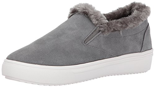 STEVEN by Steve Madden Women's Cuddles Fashion Sneaker, Grey Suede, 7.5 M US