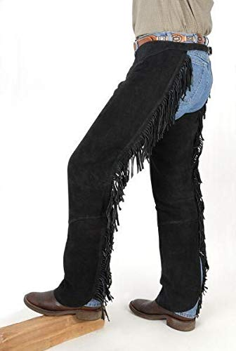 Tough-1 Western Boot Cut Chaps Black L ()