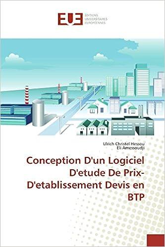 Amazonfr Conception Dun Logiciel Detude De Prix D