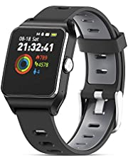 Smart Watches HolyHigh GPS Sports Watch 17 Sports Modes Waterproof Activity Trackers Smartwatch With Pedometer Heart Rate Sleep Monitor Message Reminding for Men Women Android iOS