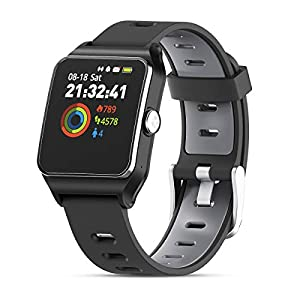 HolyHigh Smart Watches GPS Sports Watch 17 Sports Modes Waterproof Activity Trackers Smartwatch with Pedometer Heart Rate Sleep Monitor Message Reminding for Men Women Android