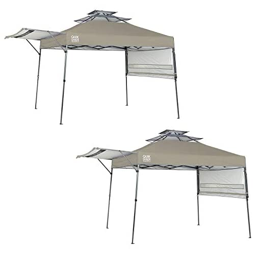 Quik-Shade-Summit-10-x-17-Instant-Canopy-Adjustable-Dual-Half-Awning-Taupe-2-Pack