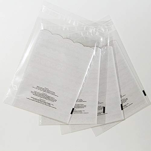 ValueMailers 100 10x13 Suffocation Warning Resealable Self Seal Flap Tape Clear Poly Bags Cello Cellophane Polypropylene OPP Bags 1.5 Mil