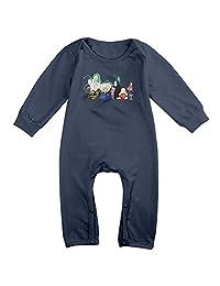 Kids Spirited Away Baby Bodysuit Unisex Boys Girls 100% Cotton Long Sleeve Onesies
