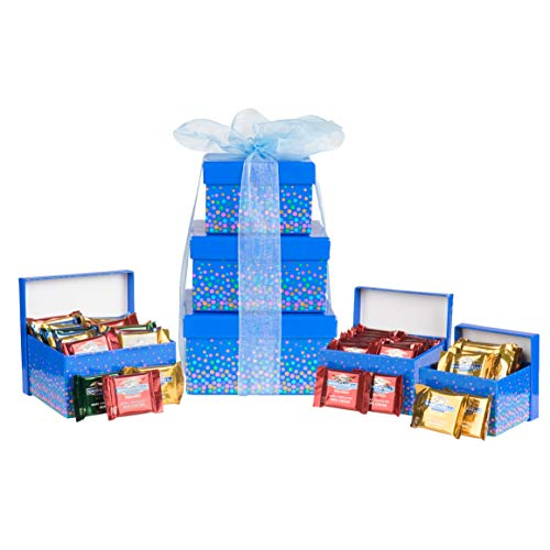 - Ghirardelli Assortment Tower, Luxury Chocolate Gift Set, 3-Tier Holiday Speckle