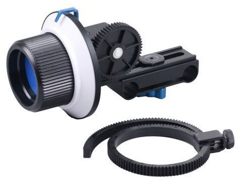Opteka FF180 Reversible Follow Focus with 10'' Whip and Speed Crank for Digital SLR and Video Cameras by Opteka