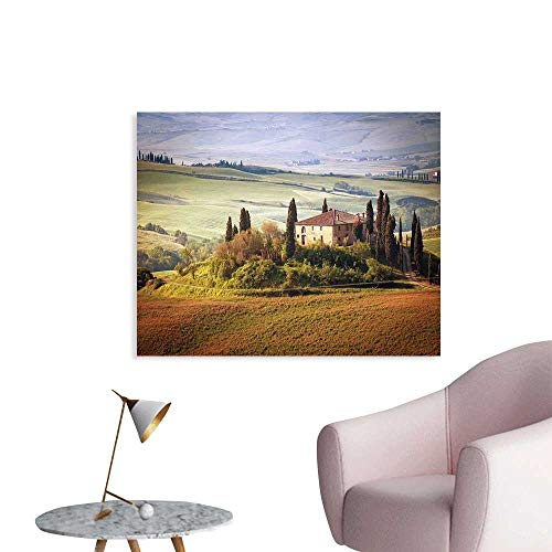 J Chief Sky Tuscan Wall Decoration Tuscany Seen from Stone Ancient Village of Montepulciano Italy in Cloudy Day Wallpaper Mural W28 xL20
