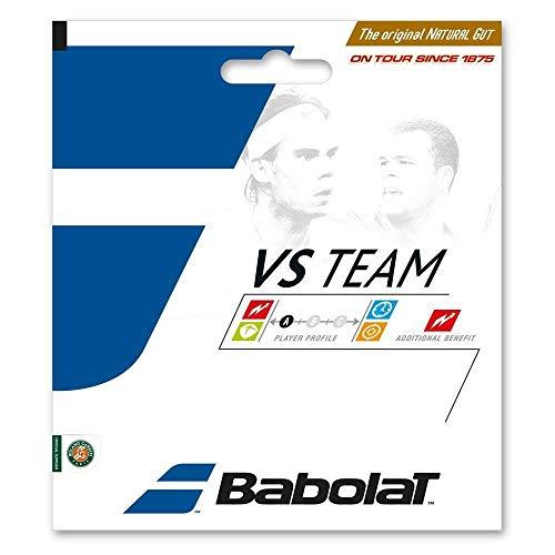 - Babolat VS Team Natural Gut Tennis Racquet String Sets - 17 Gauge/Natural Color 2-Pack (2 Sets Per Order) - Best for Comfort and Control