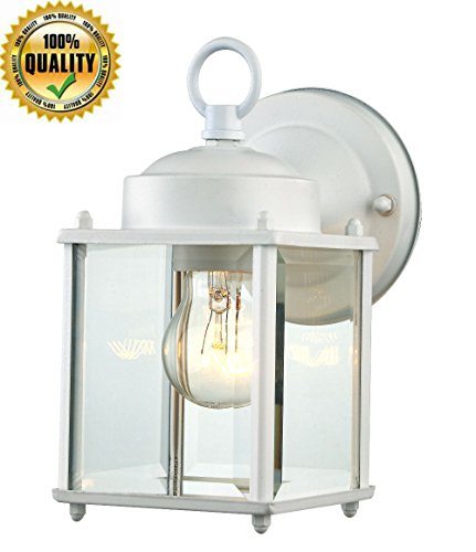 White Outdoor Hanging Light Fixture