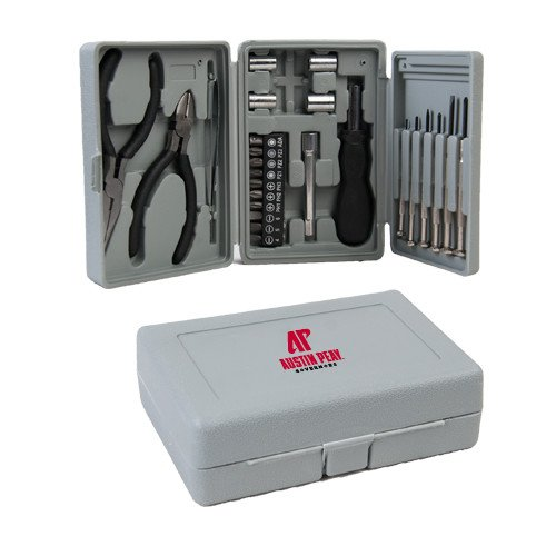 CollegeFanGear Austin Peay Compact 26 Piece Deluxe Tool Kit 'AP Austin Peay Governors - Official Athletic Logo' by CollegeFanGear