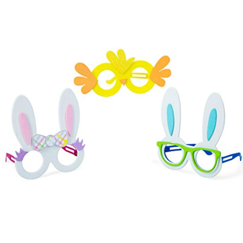 Adorable Foam Easter Eyeglasses for Kids in Bunny Ears and Chick Designs | Great Novelty Costume Favors for Egg Hunts and Parties | 3 Per Order