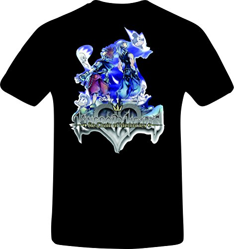 Kingdom Hearts, Re: Chain of Memories - Best Quality Costum Tshirt (L, BLACK)