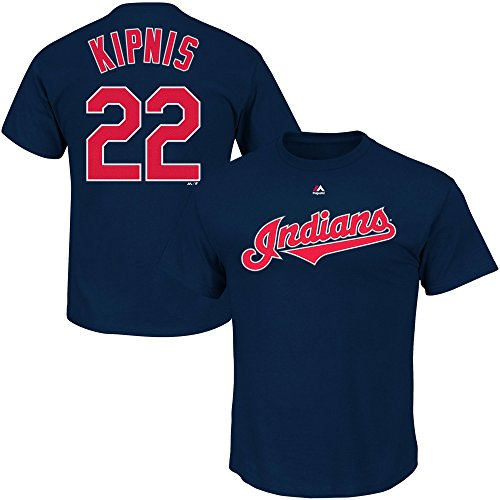 OuterStuff Jason Kipnis Cleveland Indians Navy Blue Youth Name and Number Player T Shirt – DiZiSports Store