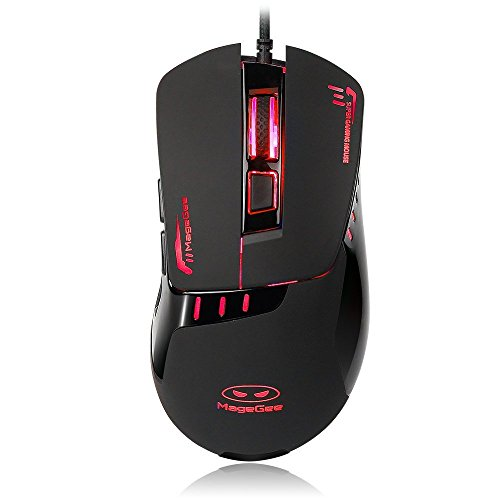 G5 Mouse (MageGee G5 Multi-Color Ergonomic Gaming Mouse - 3200 DPI Sensor - Comfortable Grip - USB Wired Mice for PC)