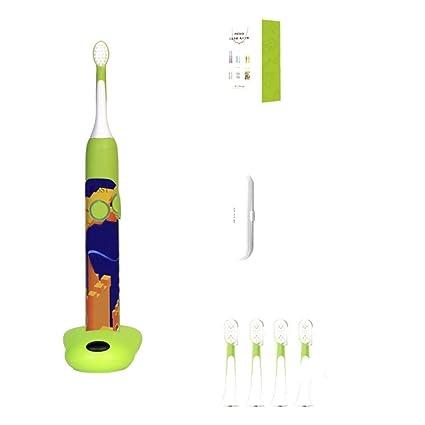 YAHRC Niños cepillo de dientes eléctrico bebé niño ola de sonido automático 2-3-