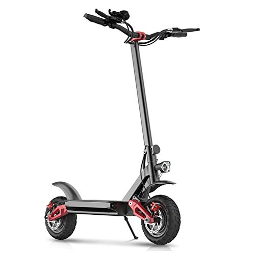 Z-HBMT Electric Scooters Adult Foldable,150kg Max Load with Seat 10 Inch 50-70km/H,Lithium Battery 52V-60V 18-21AH,Motor Drive with LED Light and HD Display Off-Road Electric Scooter,65KMRange
