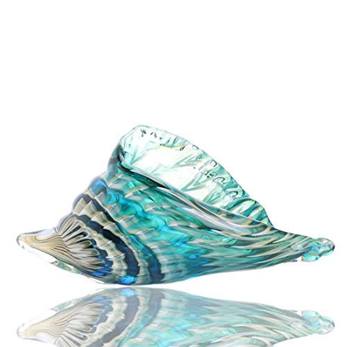 Qf Hand Blown Seashell, Beautiful Home Decor, Handmade Glass Art, Glass Conch ()