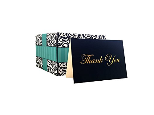 100 Thank You Cards, Bulk Thank You Cards, Premium Boxed Set, Self Seal Envelopes, Stylish Gift Box Included, Great for Weddings, Baby Shower, Birthdays, Christmas
