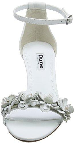 Dune Magnolea, Talones de la Correa del Tobillo para Mujer Blanco (White)