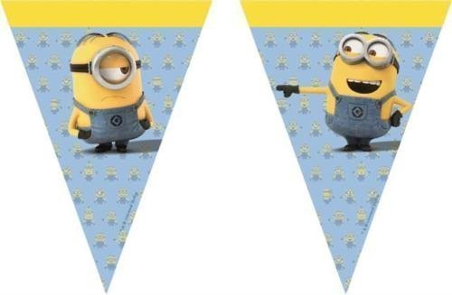 Procos Lovely Minions Plastic Party Flag Banner -