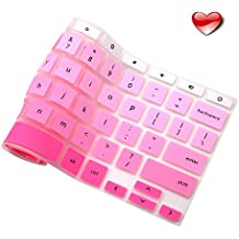 """Premium Ultra Thin Silicon Keyboard Cover For Acer - Perfect Fit Chromebook R11 11"""" 13"""" 14"""" 15.6"""" CB3-131 CB5 CP5 2016 