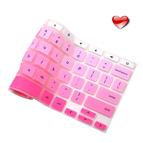 Casiii Premium Ultra Thin Acer Keyboard Cover Compatible Acer Chromebook R11 11 13 14 15.6 CB3-131 CB5 CP5 2016-2018 No Liquid Spills or Dust | Ombre Pink