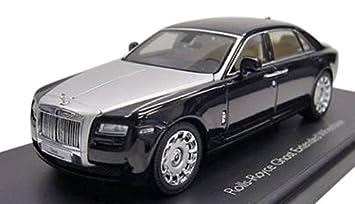 rolls royce phantom white with black rims. rolls royce ghost diamond black with extended wheel base 143 by kyosho 05551 phantom white rims
