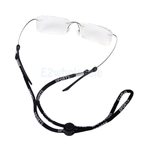 Black Length 56cm Adjustable Nylon Cord Strap for Eyeglass Sunglass Glasses - Diy Sunglass Strap