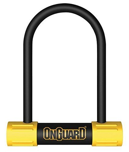 U-Lock (Black, 3.55 x 5.52-Inch) by ONGUARD (Onguard Bulldog Mini U-lock)