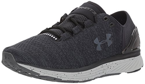 Under Armour Women's Charged Bandit 3 Running Shoe, Black (001)/Glacier Gray, 8.5 by Under Armour