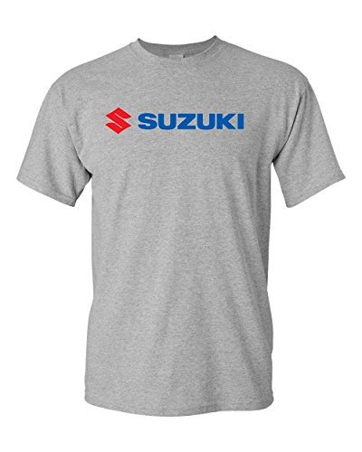 Suzuki Automobiles, Four-Wheel Drive Vehicles, Motorcycles Logo T-Shirt (XL, Grey) (Suzuki Apparel)