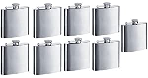 Gifts Infinity Personalized 8oz Stainless Steel Groomsman, Bridesmaid Flask - Engraved (9, 8oz)