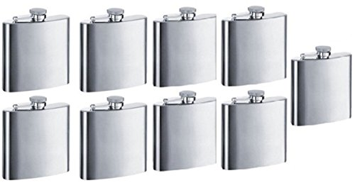 Gifts Infinity Personalized 8oz Stainless Steel Groomsman, Bridesmaid Flask - Engraved (9, -