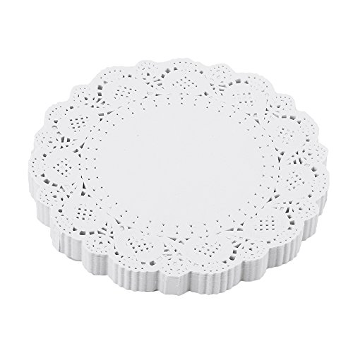 Invitations Party Girls Tea (DECORA 7.5 inch White Round Paper Lace Doilies for Tea Party and Wedding Tableware Decoration 200pcs)