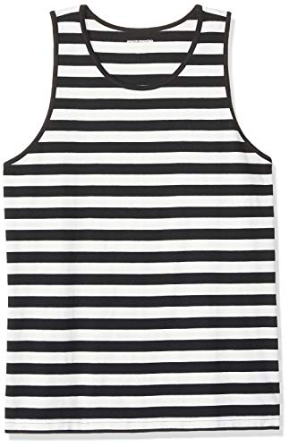 The White Stripes Costumes - Amazon Essentials Men's Regular-fit Tank Top, Black/White Stripe,