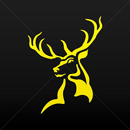 Decals Stickers Male Deer Head Decoration Bike Motorbike Bicycle Vehic Yellow (16 X 12.1 In)