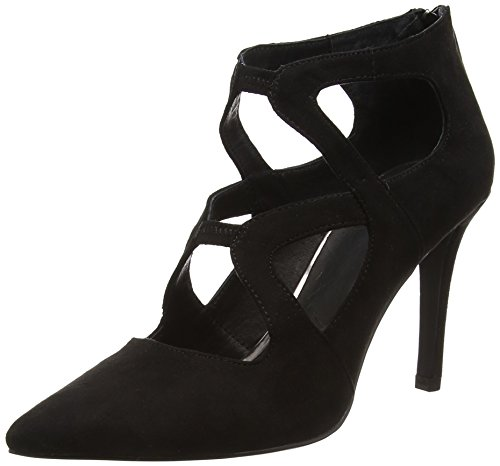 La Strada Black Suède Look Pump - Tacones Mujer Negro - Schwarz (2201 - micro black)