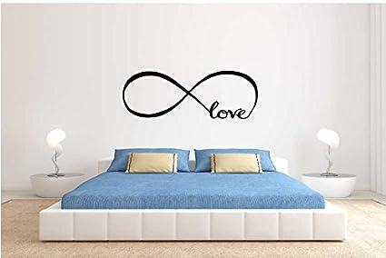 Adesivo murale Infinito Love per Camera da Letto. Decorazione Adesivo  (SMALL 150X40 CM.)