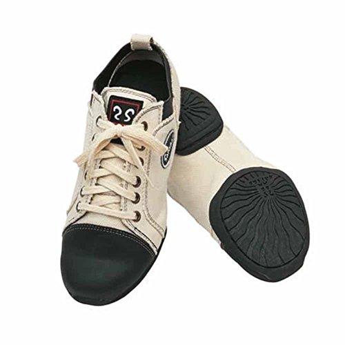 Sansha Adulto Nero Bianco Pelle Pelle Tensione Bassa Top Sneakers Da Donna 3-20