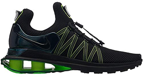 Nike Mens Shox Gravity Running Shoes AR1999 003 size 9.5 (Black/Black - Gorge Green,9.5)