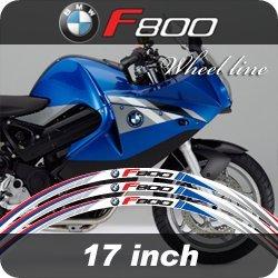 [17inch] Rueda Pegatina para Marco de Rueda Coche Motocicleta Bicicleta Car Adhesivos moto etiqueta engomada, bmw f800: Amazon.es: Coche y moto