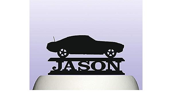 Amazon Com Personalised Acrylic Camaro Year 1966 1969 American Classic Car Birthday Cake Topper Decoration Toys Games