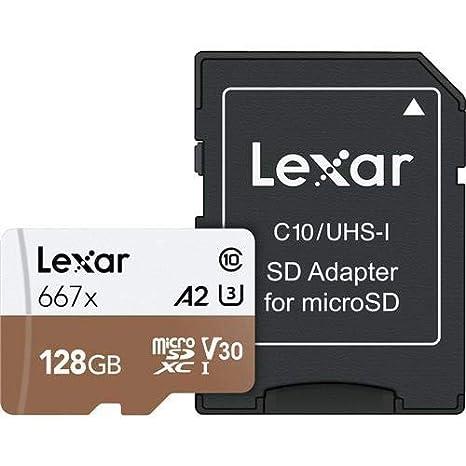 Lexar Professional 667X 128GB MicroSDXC UHS-I/U3 Card (LSDMI128BNA667A)